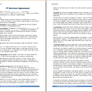 IT services agreement template