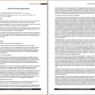 advisory board agreement template