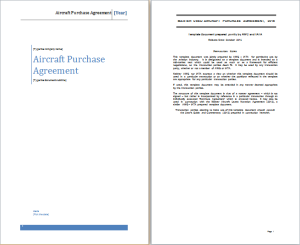aircraft purchase agreement template