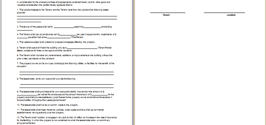 Ms word farm land lease agreement template free for Farm rental agreement template