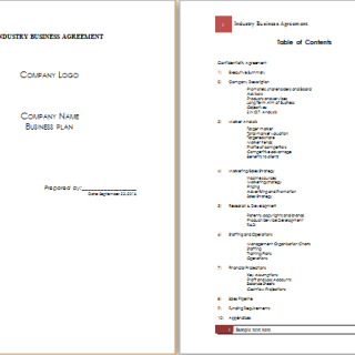 industry business agreement template