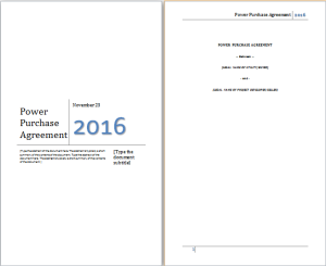 power purchase agreement template