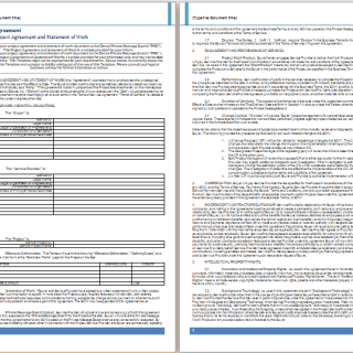 project agreement template
