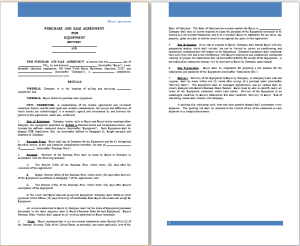 purchase and sale agreement for equipment