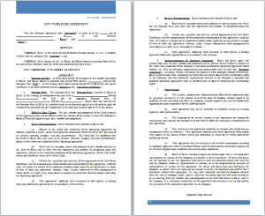 unit purchase agreement template